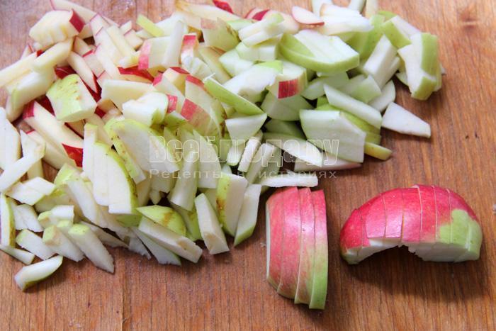 режу яблоки