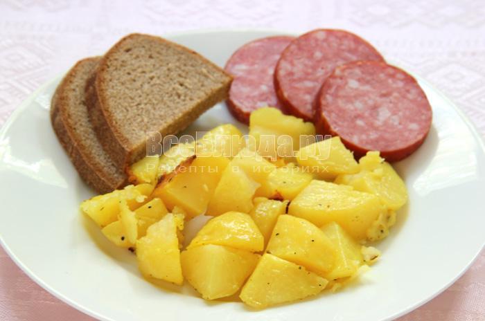 рецепт запеченного картофеля в рукаве