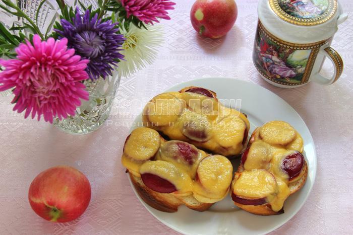 рецепт бутербродов с фруктами, фото