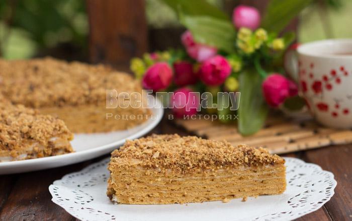 рецепт торта медовик