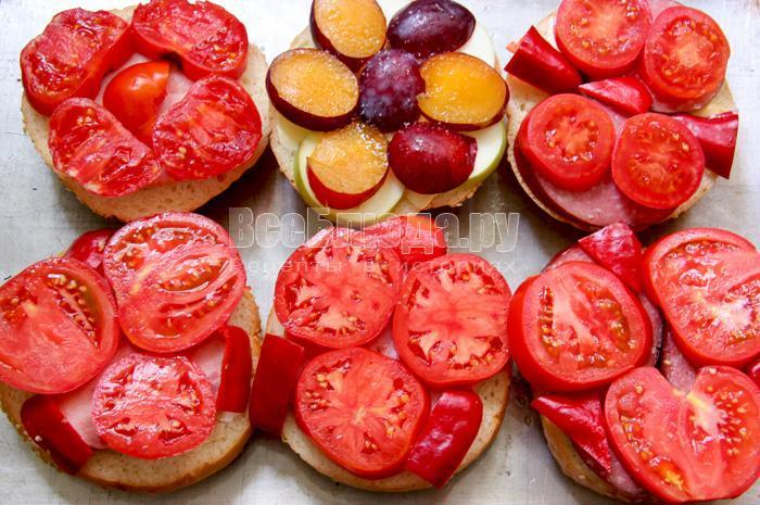 укладываю овощи