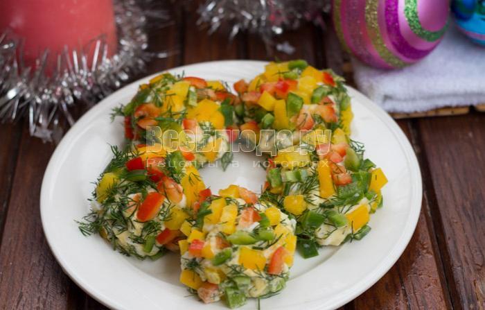 рецепт салата новогодние шары