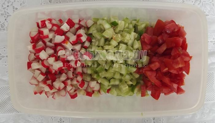 Новогодний салат Свечки из болгарского перца