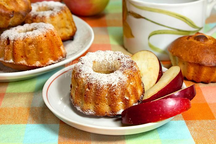 рецепт маффинов с яблоками на кислом молоке