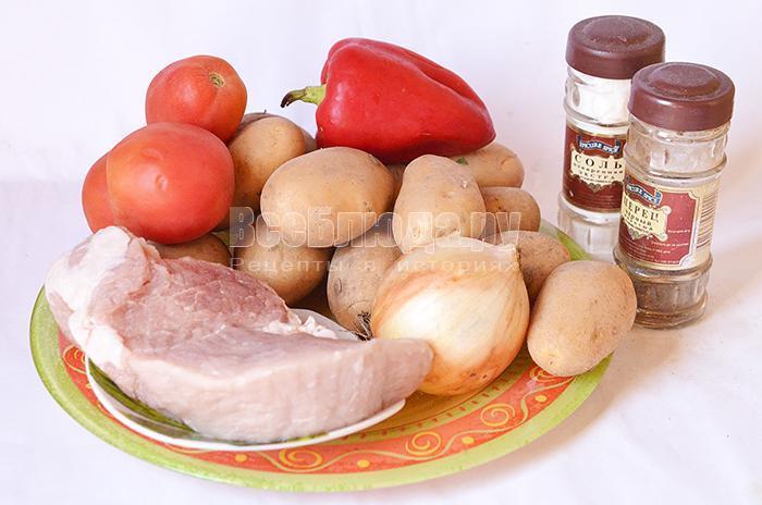 необходимые ингредиенты для красного соуса: