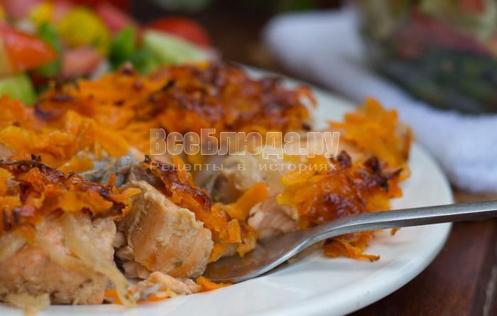Семга в медовом маринаде с соевым соусом