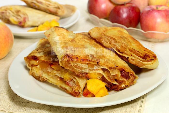 как приготовить штрудель из лаваша с яблоками