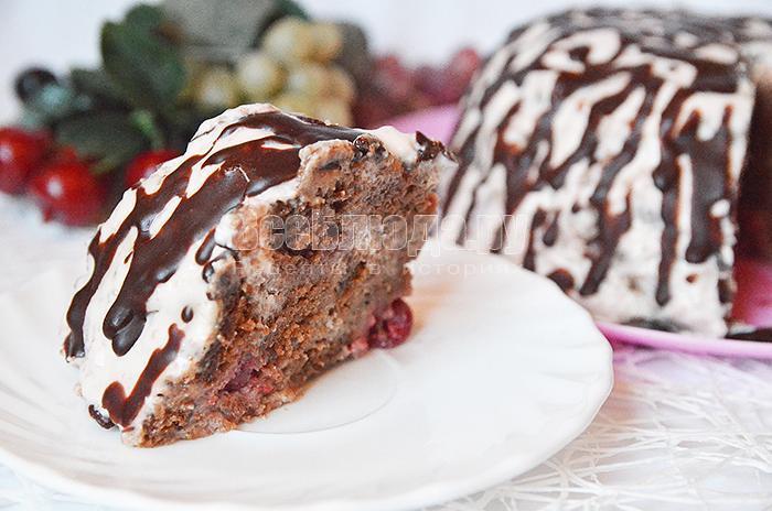 кусочек вишневого торта панчо