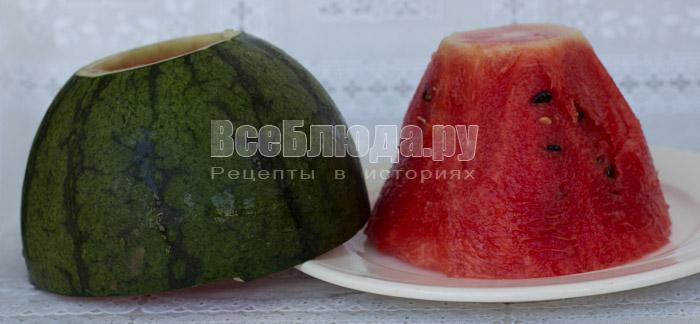 Как необычно подать арбуз с фруктами
