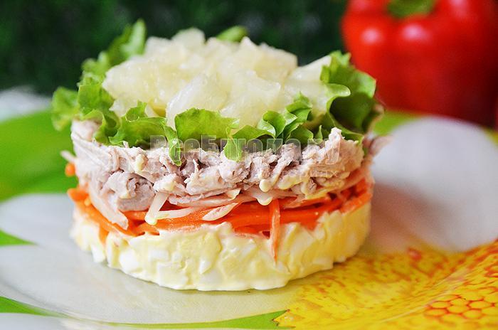 морковка по корейски, мясо, яйца - рецепт салата с фото