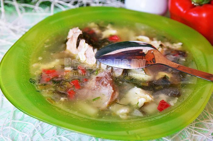 как приготовить борщ с зеленым щавелем, рецепт с фото