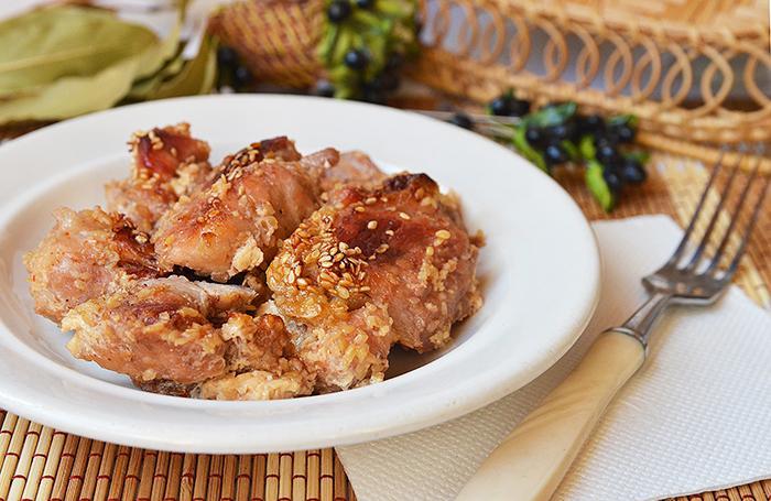 Мясо в медовом маринаде со сливками и кунжутом