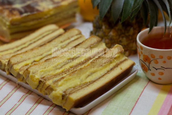 как приготовить торт с консервированными ананасами