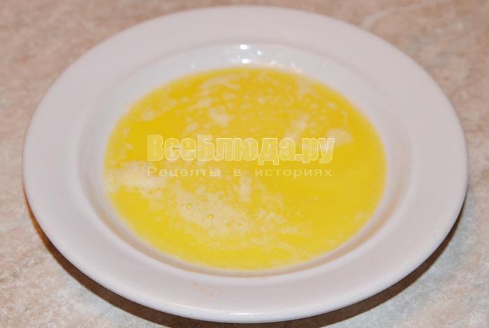 растопите масло сливочное