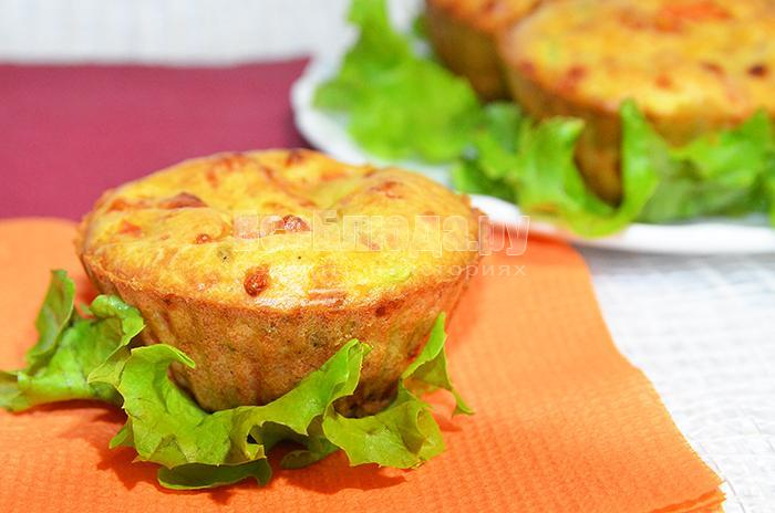 как приготовить маффины с кабачками и помидорами