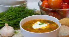 Томатный суп типа Харчо с ветчиной (Чуфырь-Чуфырь)