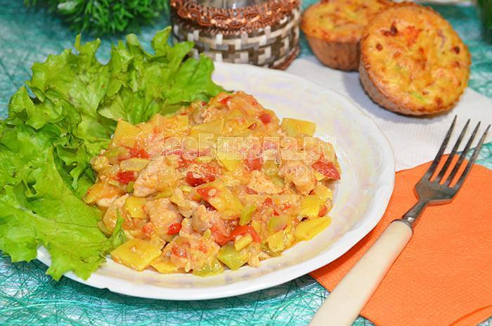 рецепт овощного рагу с мясом