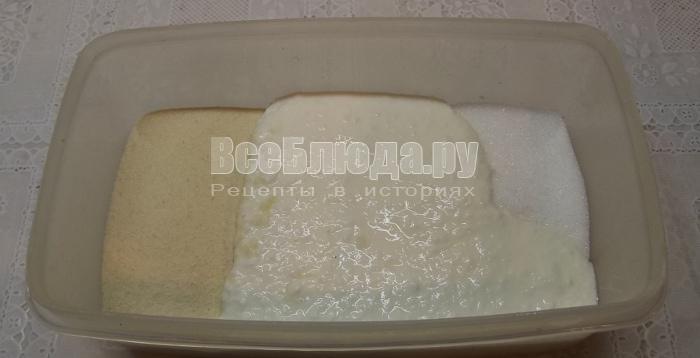 Рецепт манника на кефире в мультиварке