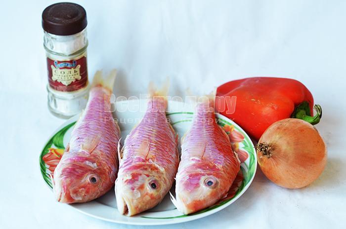 необходимые ингредиенты для приготовления барабульки: