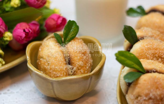 как сделать печенье персики, рецепт с фото