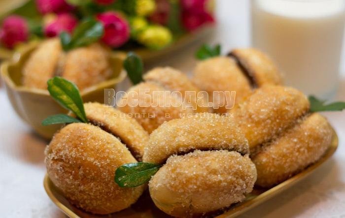 рецепт печенья персики
