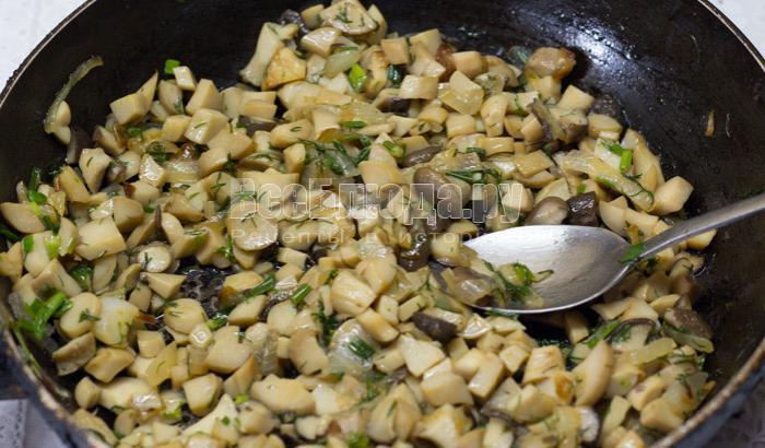 как приготовить грибную начинку