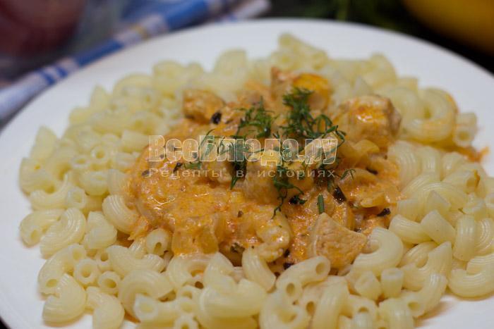 рецепт подливки к макаронам