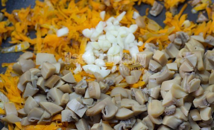 грибы и чеснок