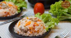 Рис со свининой и овощами в мультиварке