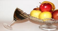Алкогольное желе с фруктами (медовуха с виноградом)
