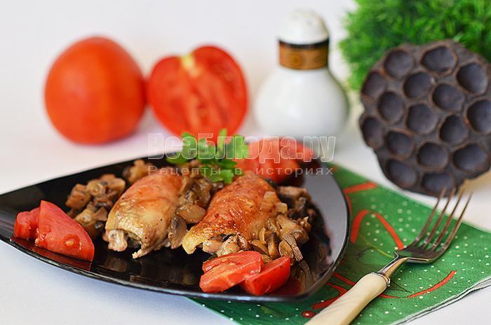рецепт куриных рулетиков с грибами и сыром виола