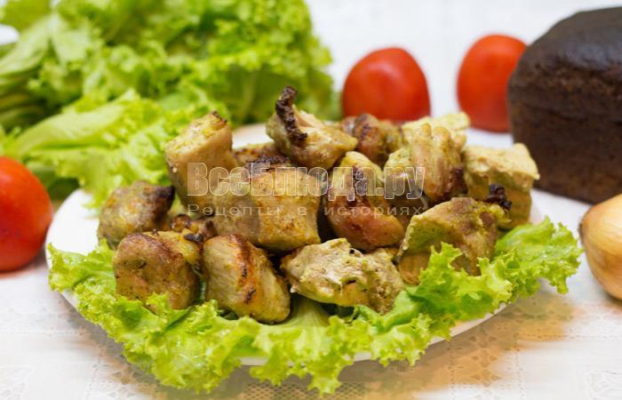 рецепт шашлыка из свинины в кефирном маринаде