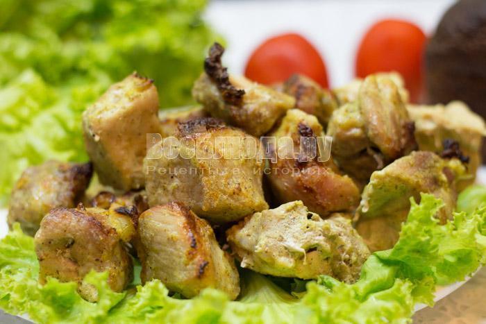 как приготовить шашлык из свинины в духовке, смотрите рецепт с пошаговыми фото