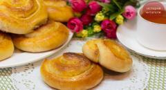 Пышные булочки Улитки с сахаром