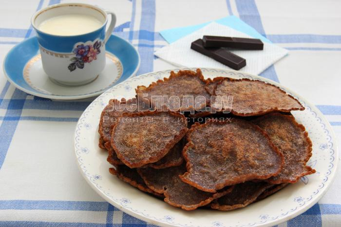 оладьи на молоке с крахмалом и какао