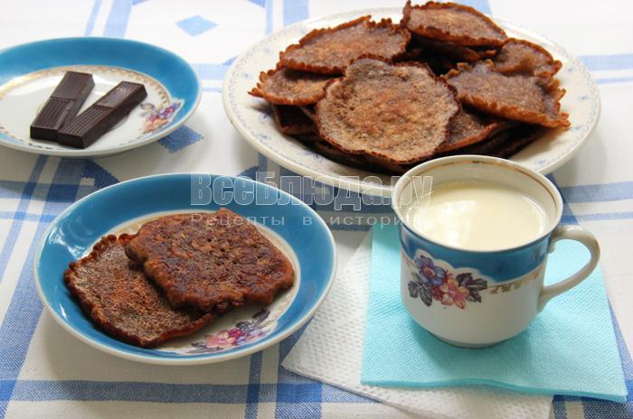 рецепт оладий на молоке с какао и крахмалом