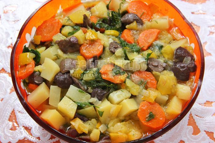овощное рагу с картошкой и грибами