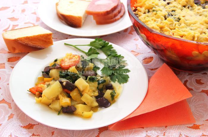 как приготовить овощное рагу с грибами, картошкой, кабачками