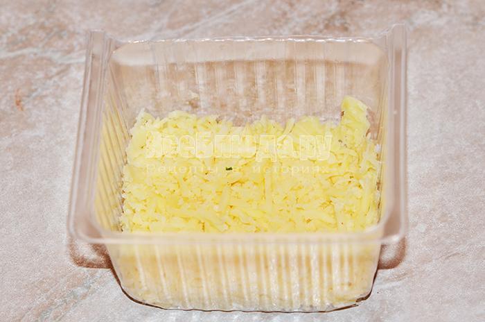 уложите сыр