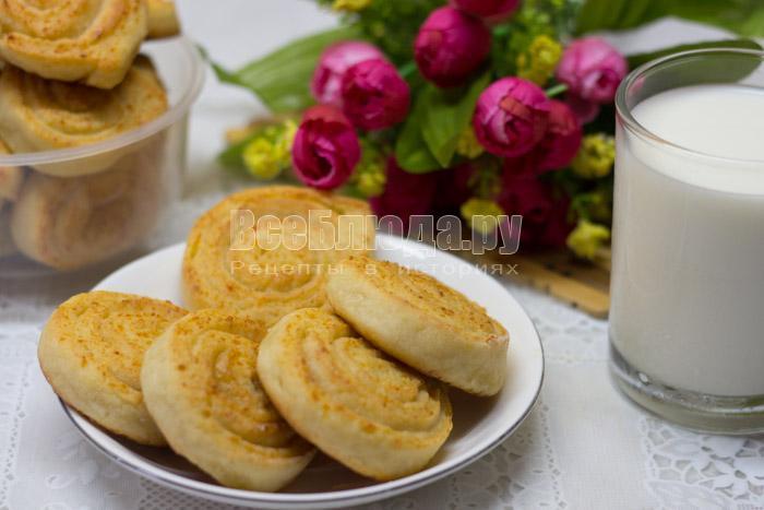 печенье из творожного теста с сахаром