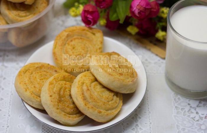 печенье из теста с творогом