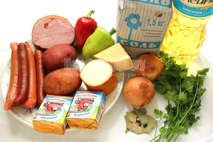 приготовить ингредиенты для белого супа