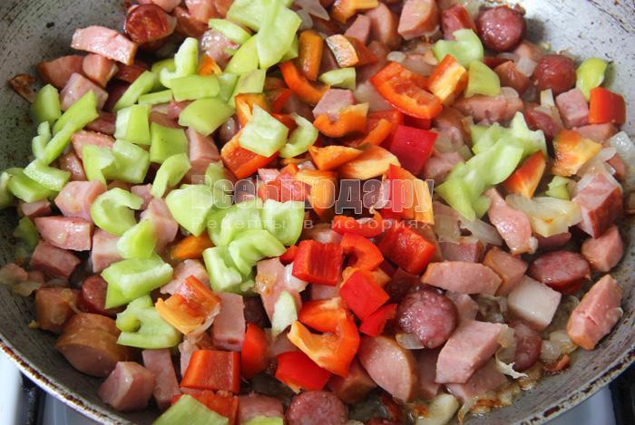 порезать болгарский перец