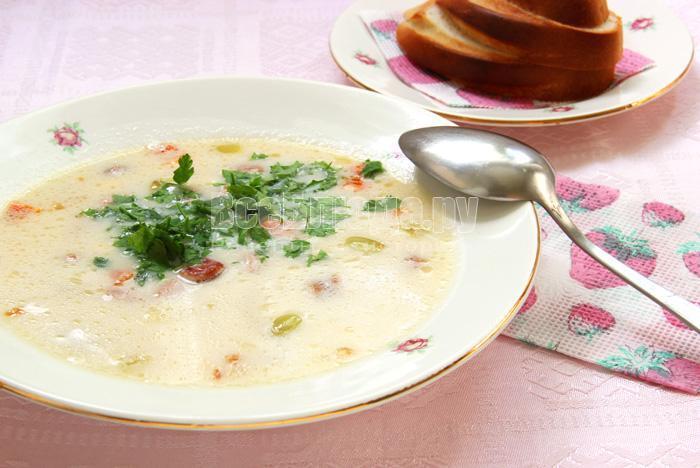 порция белого супа