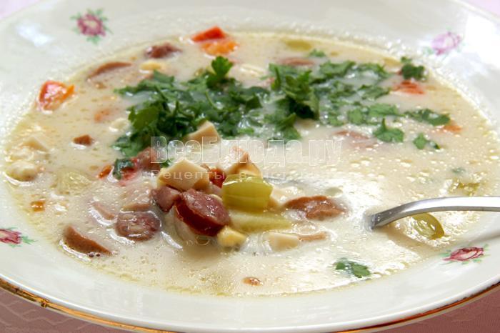 рецепт белого супа с фото