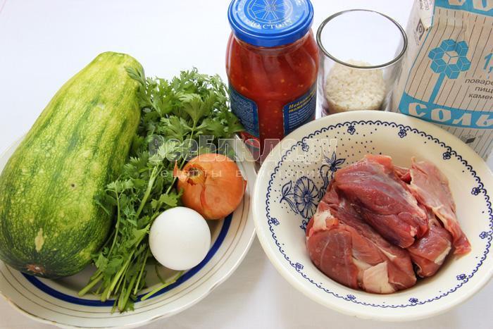 продукты для приготовления долмы