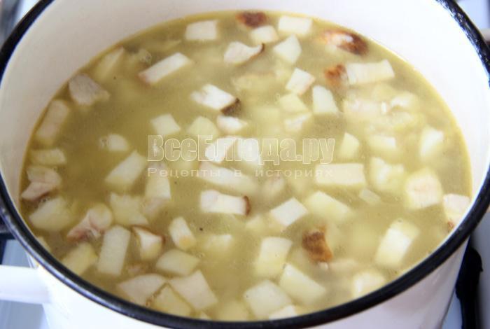 Рецепт супа с белыми грибами (или лисичками) от моего дедушки
