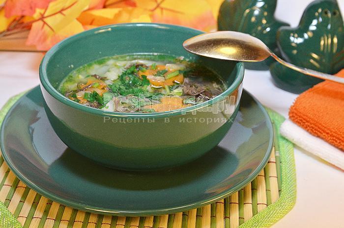 рецепт супа с оленьими рожками