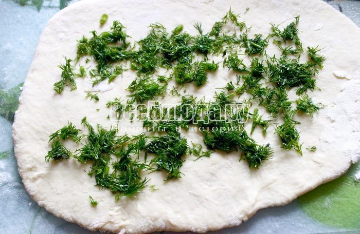 завернуть тесто с укропом