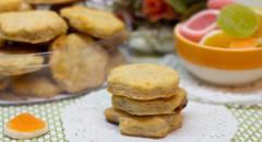 Печенье с творогом, мармеладом из цельнозерновой муки